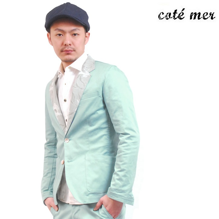 COTE MER (コートメール) テーラードジャケット エメラルドグリーン JK-S13-009【送料無料】 tj-cot-003