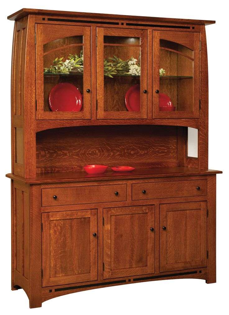 The Boulder Creek Hutch Is Shown In Quarter Sawn White Oak With A Michaels Cherry Stain