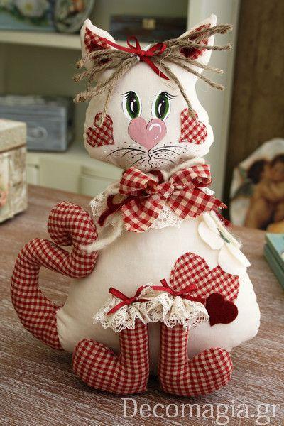 A lovely cat with cucito creativo ~ Μια υπέροχη γατούλα δημιουργημένη με cucito creativo