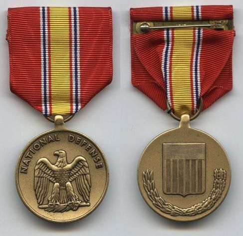 """The National Defense Service Medal (NDSM) is a military service medal of the United States Armed Forces originally commissioned by President Dwight D. Eisenhower. Created in 1953, the medal was intended to be a """"blanket campaign medal"""" awarded to any member of the United States Armed Forces who served honorably during a designated time period of which a """"national emergency"""" had been declared."""