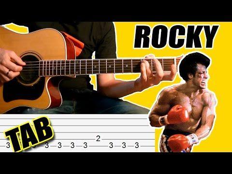 Como Tocar Rocky Balboa: Tablatura Para Guitarra Acústica - Punteo TCDG - YouTube