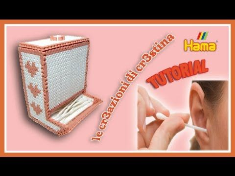 Dispenser Cotton Fioc/Caramelle con HAMA BEADS/Pyssla/Perler beads - Porta Cottonfioc Tutorial - YouTube