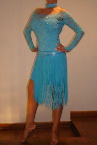 Blue Latin or Rhythm Dress For Sale, Dance Costumes For Sale, Dance Gowns for sale