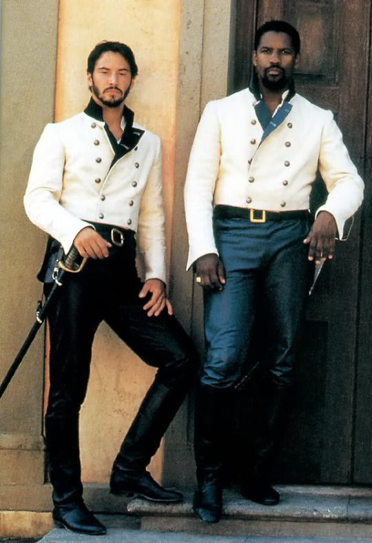 Keanu Reeves & Denzel Washington in 'Much Ado About Nothing' (1993).