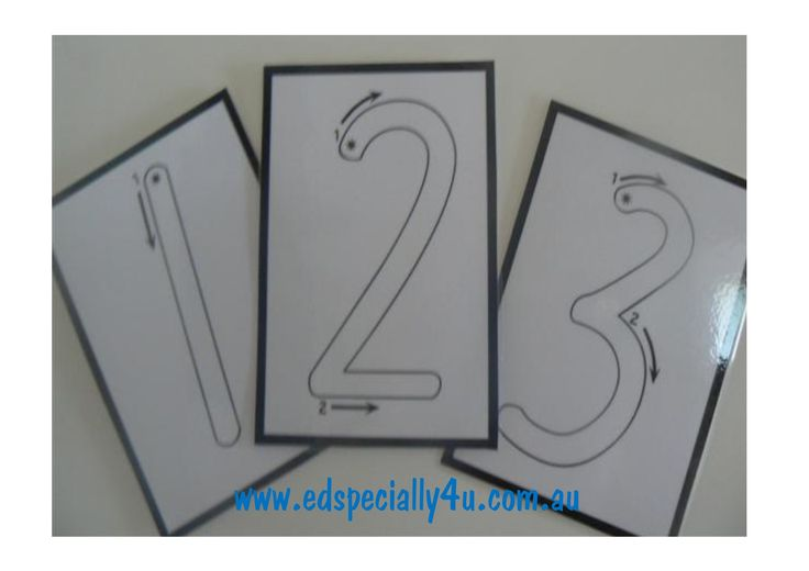 Outlined Numeral Cards.  This font provides arrows and numbers to assist students with the correct number formation. Write on and wipe off resource for continued use and practice. www.edspecially4u.com.au