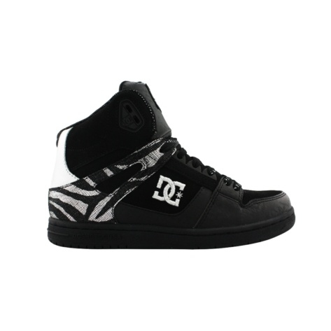 Shop for Womens DC Rebound Hi Skate Shoe in BlackSilver at Journeys Shoes. Shop today for the hottest brands in mens shoes and womens shoes at Journeys.com.Hi-top skate shoe from DC, the Rebound Hi features a leather upper with zebra printed accents, padded collar, elastic tongue-centering straps, and a DGT rubber sole. Available exclusively at Journeys and Shi!