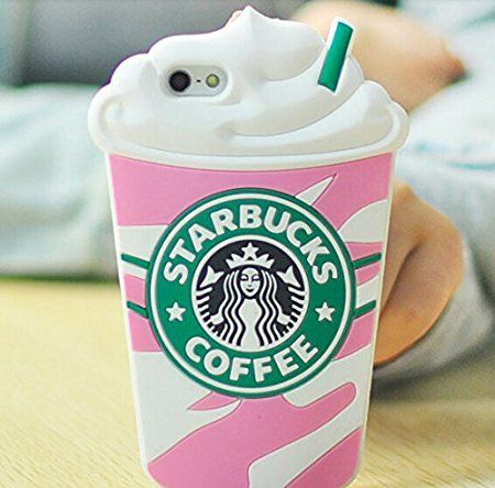 Starbucks Glace 3D Coque souple en Silicone, rose, iPhone 4/4s