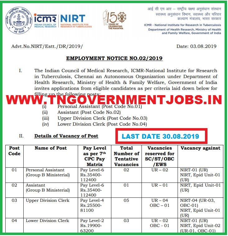 Nirt Chennai Admin Jobs Recruitment 2019 Admin Jobs