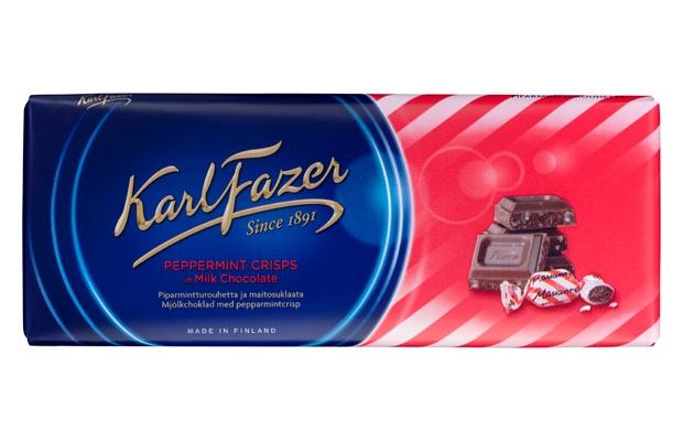 Karl Fazer 200g Piparmintturouhetta ja maitosuklaata suklaalevy