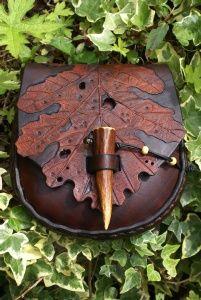 Oak leaf belt pouch