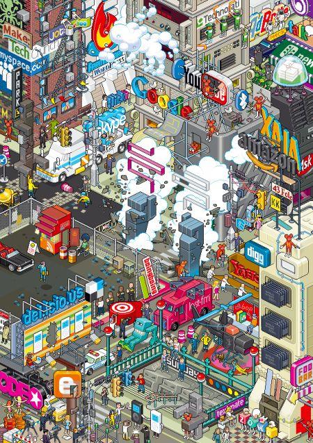 social pixel art