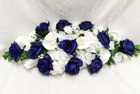 30 Wedding Arch Swag Royal Blue Rose Calla Lily Wedding
