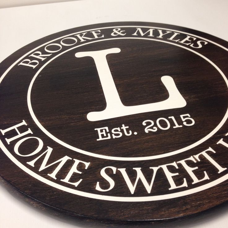 Home Sweet Home Typewriter font style sign with  Established Date ~ Personalized Names and Established Date Sign ~ by AnniesBarn on Etsy