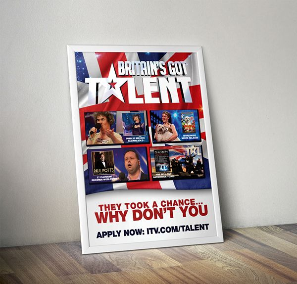 A3 Poster and A5 Flyers Design for Britain's Got Talent 2015
