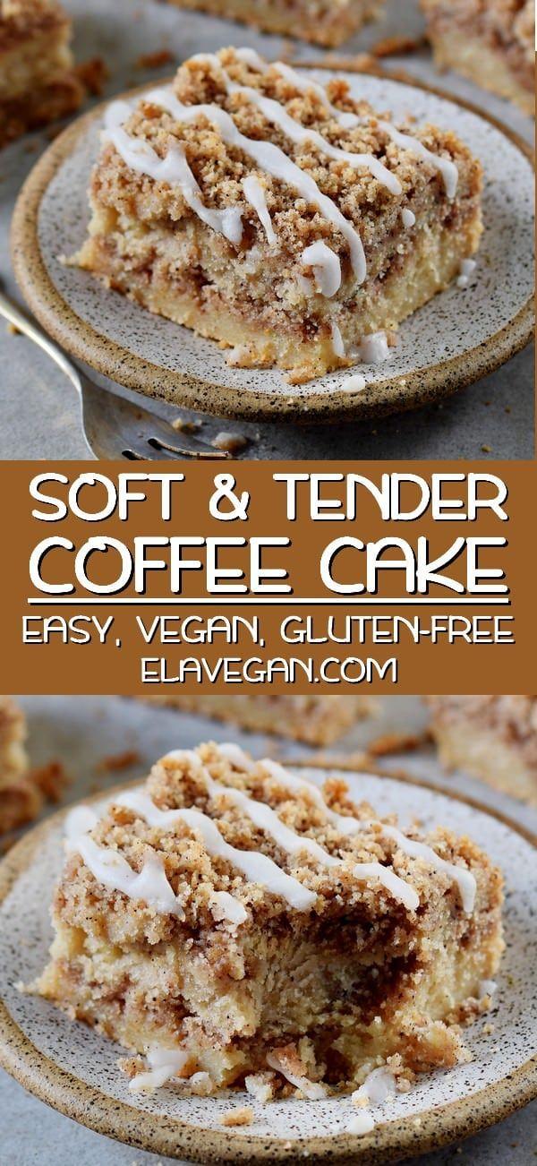 Vegan Coffee Cake With Streusel In 2020 Gluten Free Coffee Cake Vegan Coffee Cakes Healthy Coffee Cake