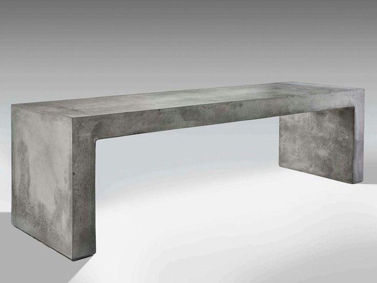 Panchina in cemento con illuminazione integrata I-CEMENTI Collezione I-Cementi by LUCIFERO'S