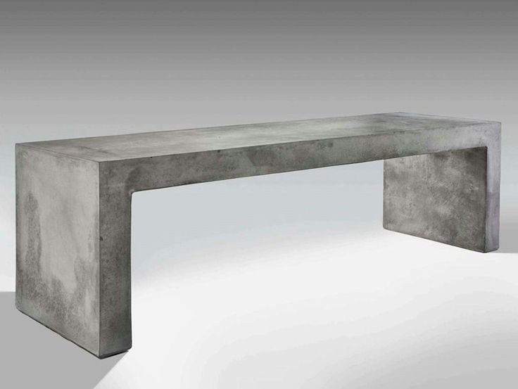 Cement Bench with Integrated Lighting I-CEMENTI I-Cementi Collection by LUCIFERO'S