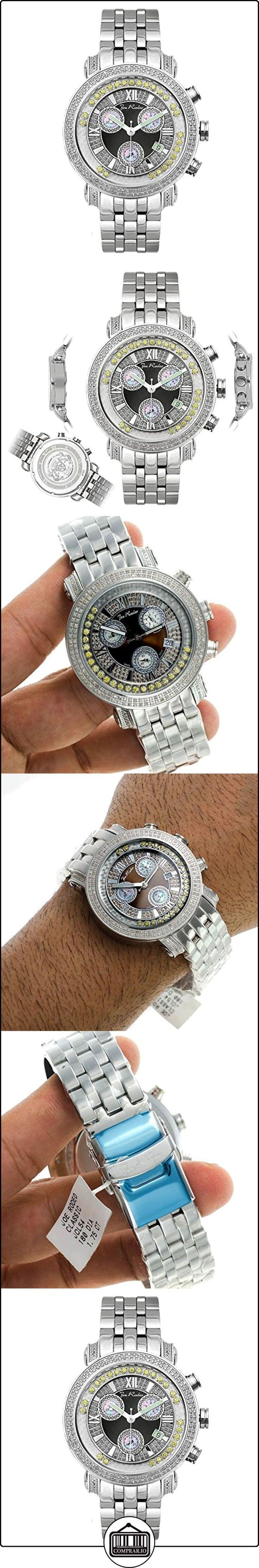 Para hombre reloj de diamante Joe Rodeo - de hombre de estilo clásico 1,75 de quilate  ✿ Relojes para hombre - (Lujo) ✿