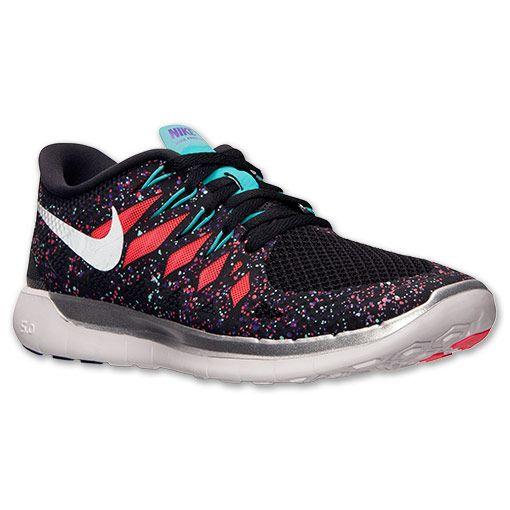 Women's Nike Free 5.0 Premium Running Shoes | Finish Line | Black/Hyper  Jade/