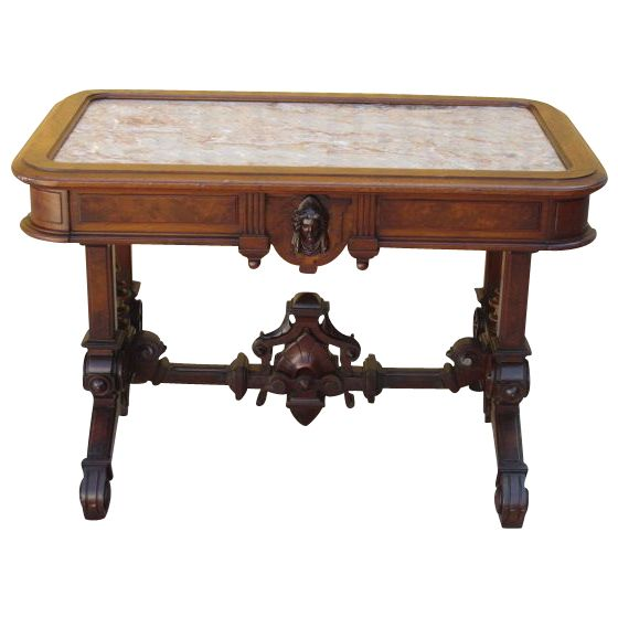 Antique Victorian Marble Top Tea Table Parlor Table Antique Furniture! This  Exquisite Table Is Made