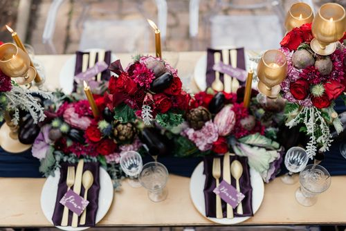 Purple | Red | Gold | Wedding | Moody | Dramatic | Mishka Patel | Spier Wine Farm | Bride