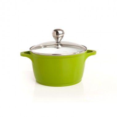 Die Cast 20cm Casserole #Sabichi #cookware #kitchen #non-stick i#vibrant #green #sabichistyle