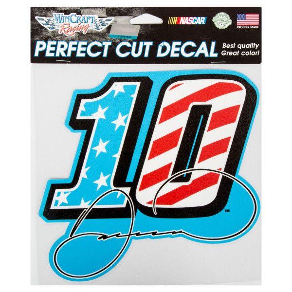 Danica Patrick #10 Car Patriotic Perfect Cut Color Decal