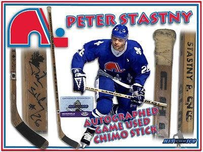 PETER STASTNY Signed Game Used Stick QUEBEC NORDIQUES - w/COA - Autographed NHL Sticks ** More info could be found at the image url.