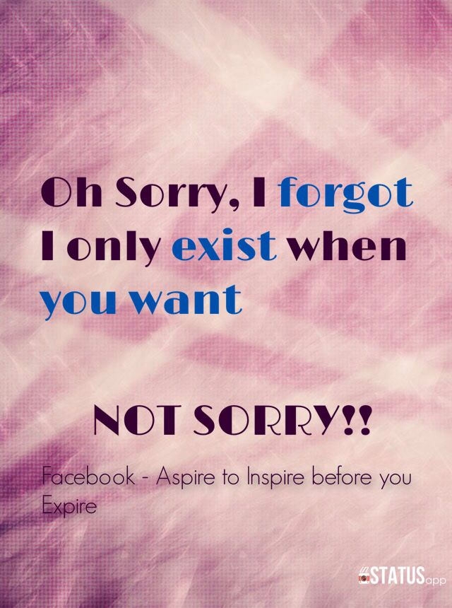 Not sorry quote