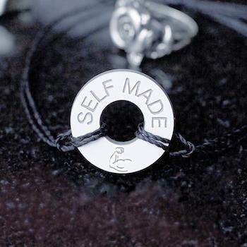 Adjustable handmade string bracelet custom engraved with the message & symbols that matter to you. Pick your favorite colors and write a message in any language