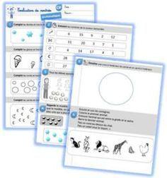 Evaluation de rentrée CP en maths ( dénombrer, résoudre un pbm, vocabulaire spatial...)