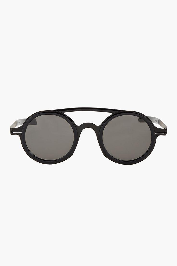 Damir Doma Black Dd03 Mykita Edition Round Sunglasses
