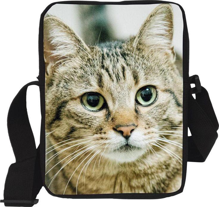 Trendy Cute Cat Head Children Messenger bag for Girl Funny Animal Mini Should Schoolbag for Kids Kindergarten Mochila infantil #Affiliate