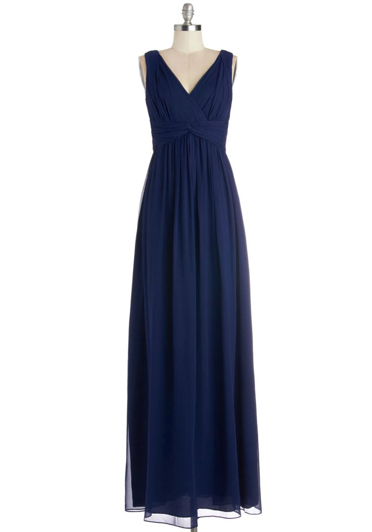 Grand Guest Dress in Navy. From the moment you received the invitation to your friends fte, you knew youd be wearing this navy maxi dress! #blue #prom #wedding #bridesmaid #modcloth