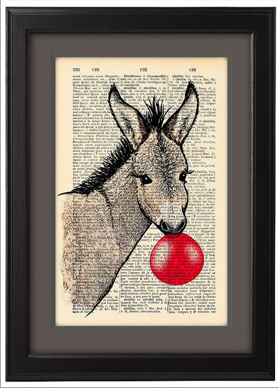 Happy baby Donkey and Bubblegum pop Funny poster  par Natalprint