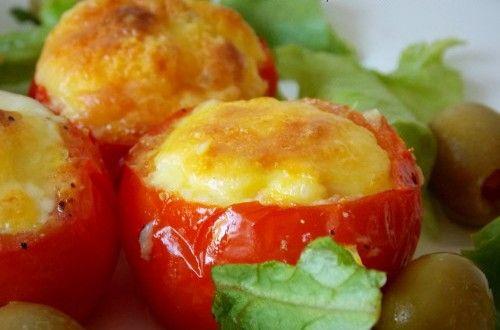 tomate farcie à l'oeuf