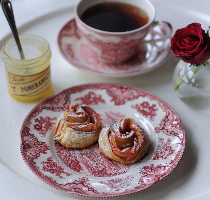 Afternoon Tea med äppelrosor.