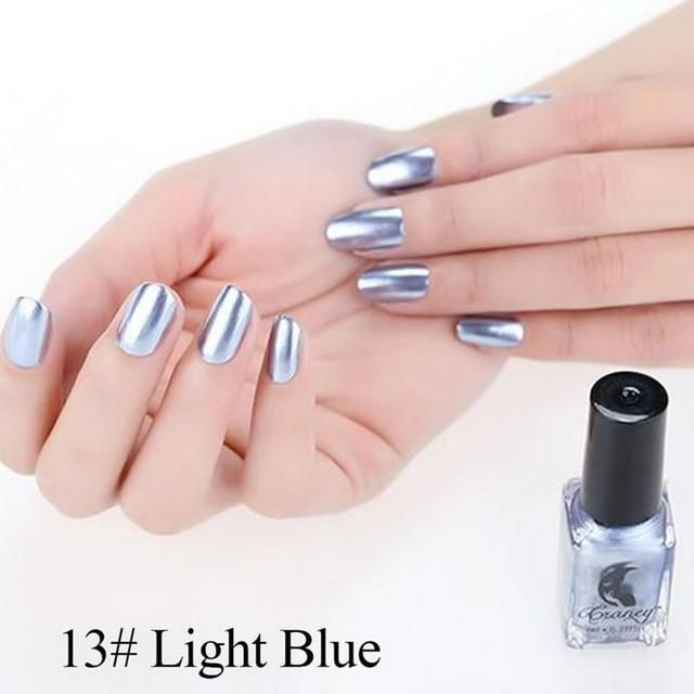 Metallic Nail Polish.Metallic Mirror Effect Nail Polish – vizshoping