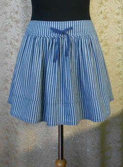 Выкройка широкой юбки на кокетке