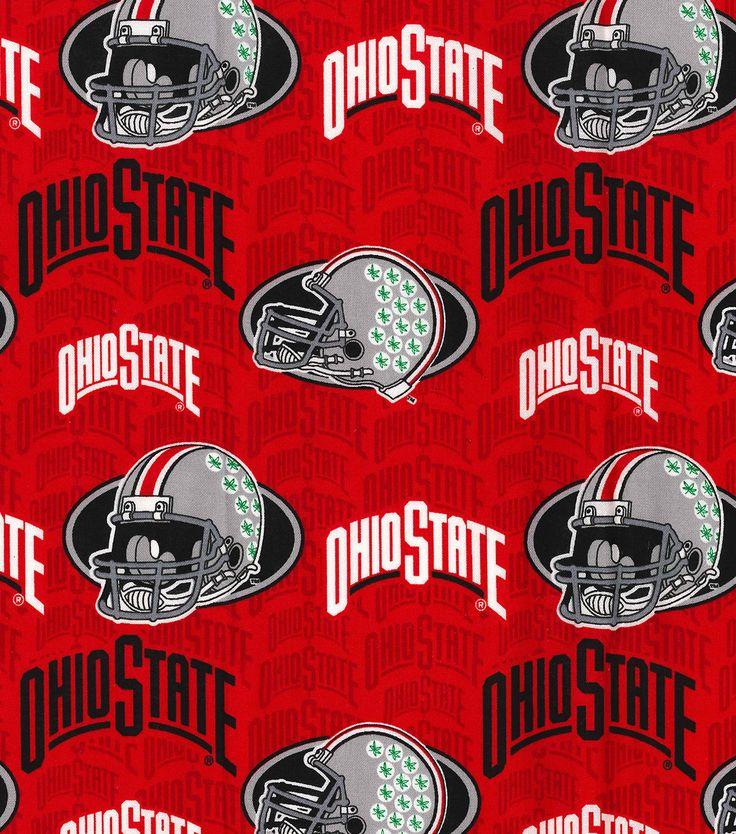 Ohio state university buckeyes cotton fabric gray helmets