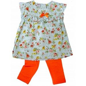 Toddler Floral Dress with Pants