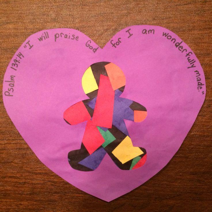 I Am Wonderfully Made Preschool Craft