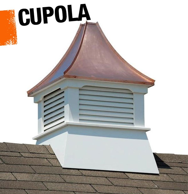 A cupola refers to a dome like or multi sided structure for Country cupola