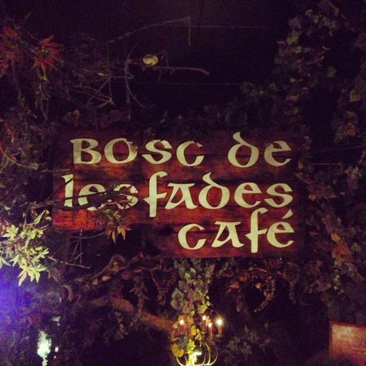 El Bosc de les Fades is a magical fairy bar located in the district of Gotico near the museum de la cira.  Upon entering you are brought into a magical land where you can pause the time and enjoy a nice beverage. Forget time and all your worries....