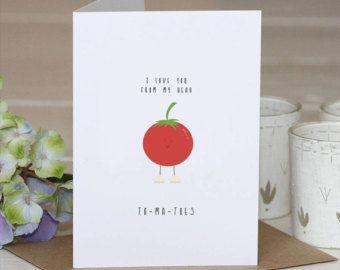 Tomato // Anniversary Pun Card // birthday Pun Card // I love you // Anniversary // Birthday Card // Pun Card // Tomato pun