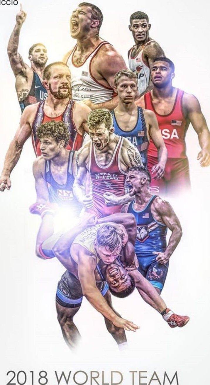 Pin by Jeff Spain on Go USA wrestling Sports graphics