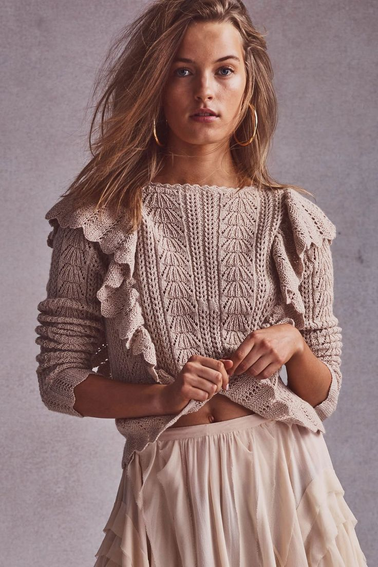 Ruffle Pullover