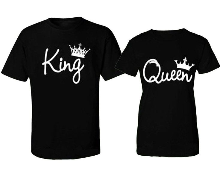US STOCK Couple T-Shirt King and Queen - Love Matching Shirts Couple Tee Tops WR