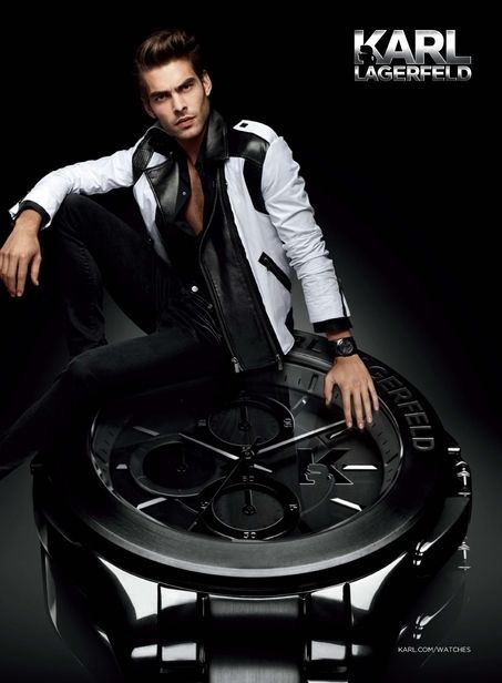 Karl Lagerfeld Photographs Jon Kortajarena for his Label's Spring/Summer 2013 Watch Campaign