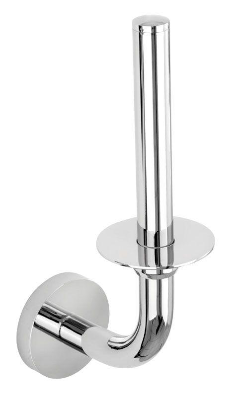 Der formschöne Ersatzrollenhalter aus der Serie EOS besticht durch seine schlichte Eleganz. Der harmonisch runde Rollenhalter aus hochwertigen verchromten Messing ist ein echter Blickfang im WC. Die Befestigung erfolgt entweder mit Schrauben oder mit einem speziellen 2-Komponenten-Kleber.